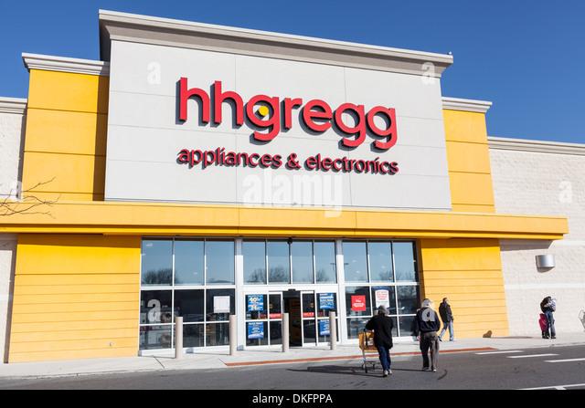 H. H. Gregg Haushaltsgeräte und Elektronik-Box speichern, Towson, Maryland, Baltimore County. Stockbild