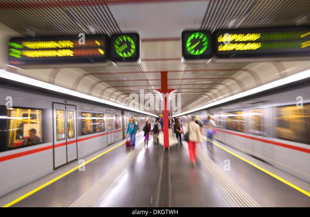 U-Bahn, Wien, Österreich, Europa Stockbild