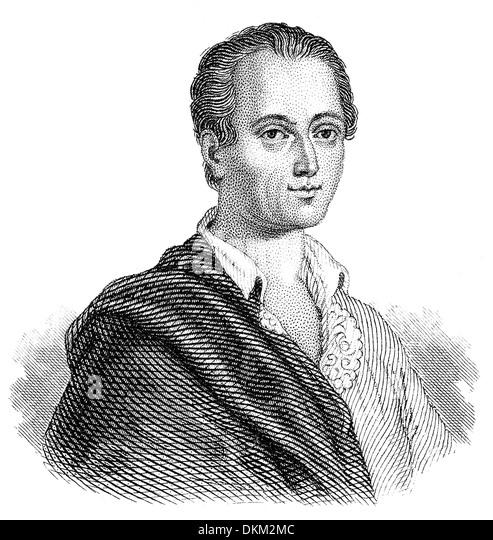 Johann Joachim Winckelmann, 1717-1768, ein deutscher Archäologe, Antiquar und Kunst-Autor der Frühaufklärung Stockbild