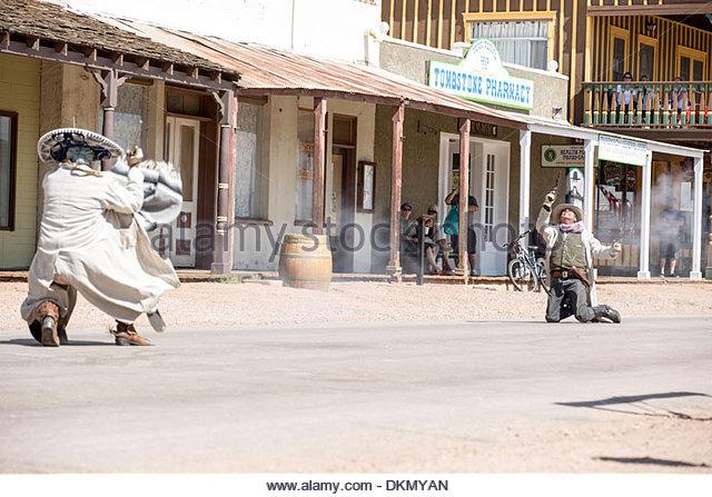 Straße Schauspieler, Tombstone, Arizona Stockbild