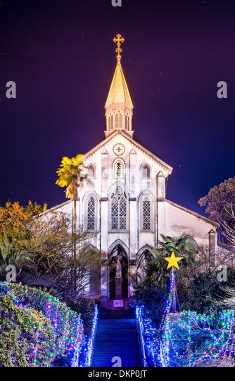 Oura katholische Kirche in Nagasaki, Japan. Stockbild