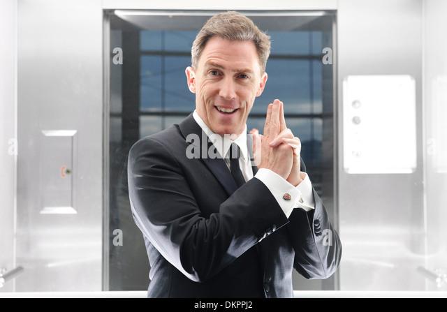 Walisischer Schauspieler und Komiker Rob Brydon. Stockbild
