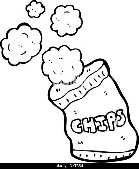 Cartoon-Kartoffel-chips Stockbild