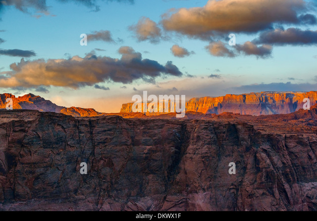 Page Arizona, Horseshoe Bend, Sunrise Stockbild