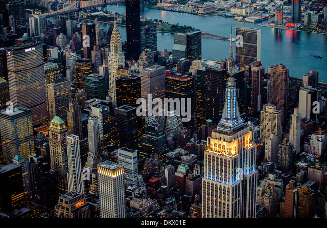 Midtown Manhattan Luftbild NYC Stockbild