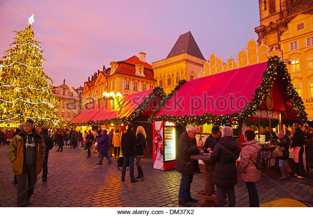 christmas markets prague stockfotos christmas markets. Black Bedroom Furniture Sets. Home Design Ideas