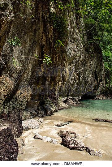 Die Smaragd-Höhle (Tham Morakot), Thailand - Stock-Bilder