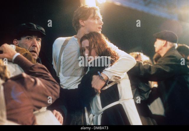 TITANIC 1997 Twentieth Century Fox Film mit Leonardo Di Caprio und Kate Winslet Stockbild