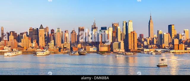 Panoramablick auf Manhattan Stockbild
