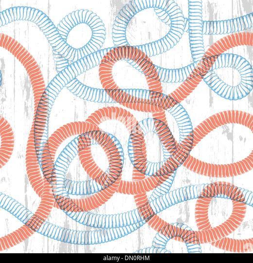 Seil nahtlose Textur. Seemann unter dem Motto abstrakten Hintergrund. Vektor Stockbild