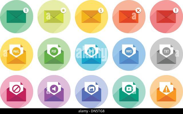 E-Mail-Icons set Stockbild