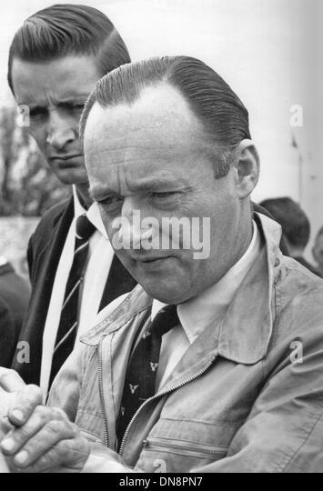 Donald Malcolm Campbell CBE war eine britische Geschwindigkeit Rekordbrecher, acht absolute Geschwindigkeits-Weltrekorde Stockbild