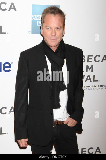 """Kiefer Sutherland bei der Premiere von """"Nur ungern fundamentalistischen"""" beim Tribeca Film Festival 2013. Stockbild"""