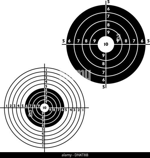 Ziele für die praktische Pistolenschießen, Übung. Vektor-illustration Stockbild
