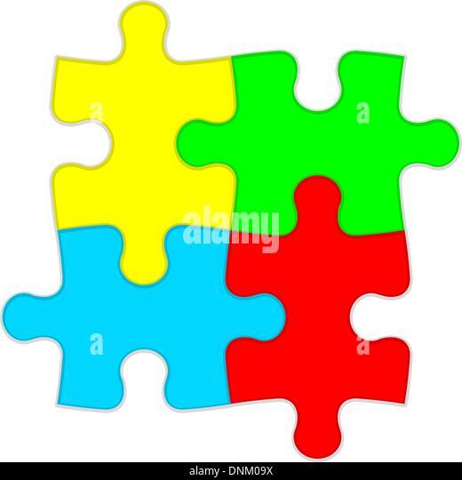 Hintergrund-Vektor-Illustration Jigsaw puzzle Stockbild