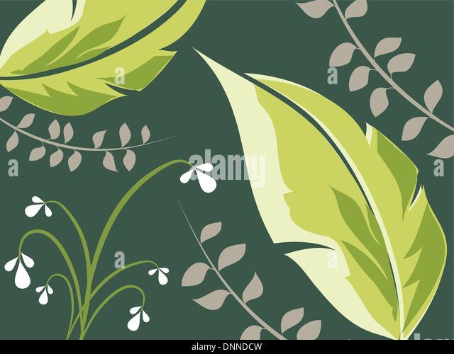 Laub-Hintergrund Stockbild