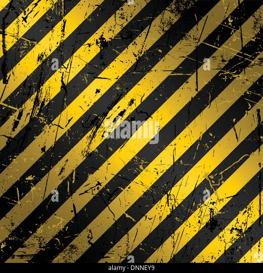 Strukturierte Grunge Bau Hintergrund in gelb und schwarz Stockbild