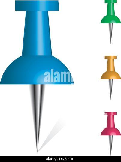 Vektor-Push pin bunte Sammlung - Stock-Bilder