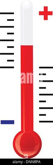 Thermometer-Vektor Stockbild