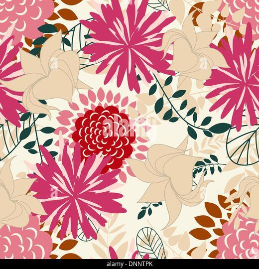 """Nahtloser Vektor floral Hintergrund. Ziehen Sie für leicht machen nahtloses Muster nur Gruppe """"alle"""" Stockbild"""