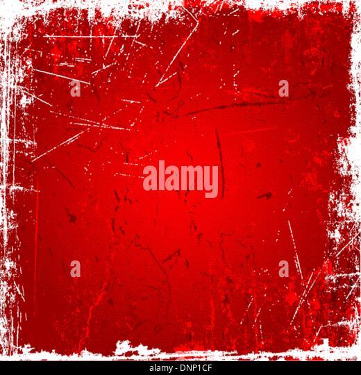 Grunge Hintergrund mit Kratzer und Flecken in Rottönen Stockbild