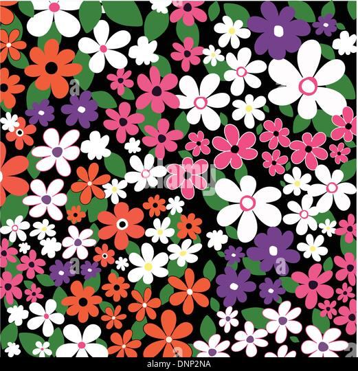 Hintergrund der vielen Blumen Stockbild