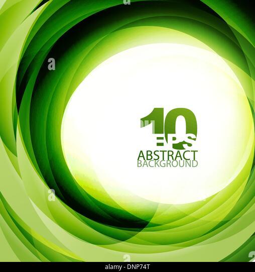 Vektor grüne, umweltfreundliche Wirbel abstrakten Hintergrund Stockbild