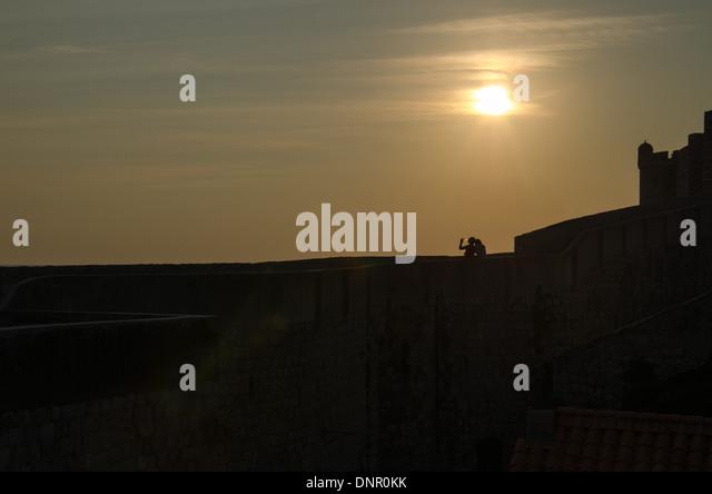 Silhouette Stockbild