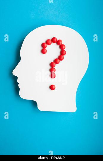 Gehirn Drogen, Konzeptbild Stockbild