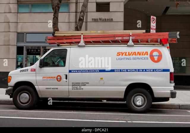 Sylvania Lighting Services LKW - Washington, DC USA Stockbild