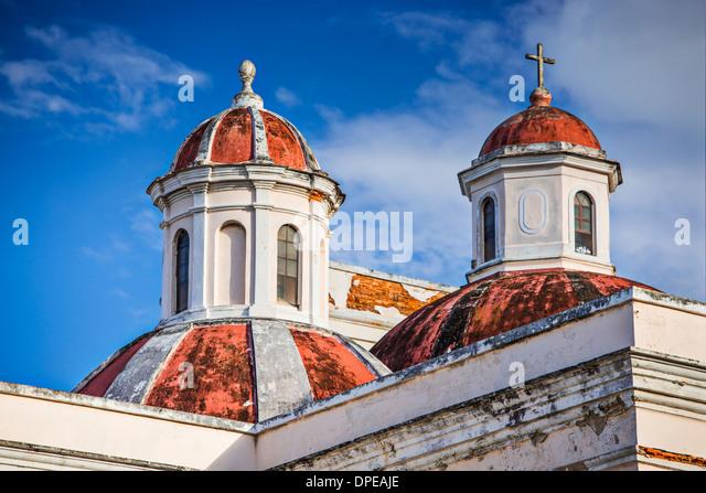 Kathedrale von San Juan Bautista in San Jaun, Puerto Rico. Stockbild