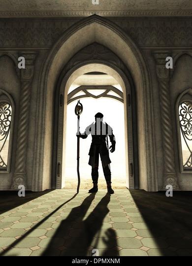 Dark Lord an der Schwelle Stockbild
