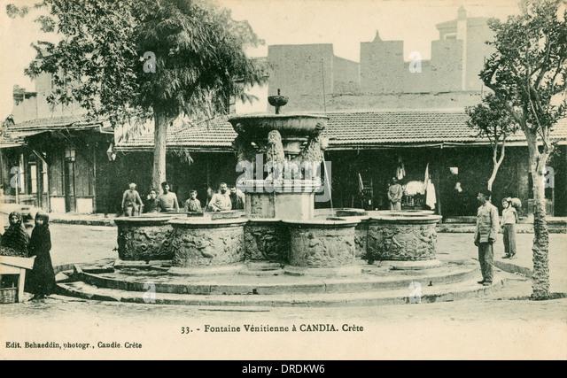 Griechenland, Crete - Chania - venezianischen Brunnen Stockbild