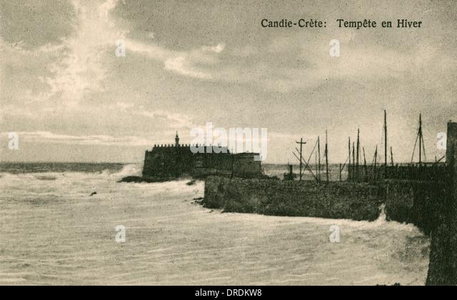 Griechenland, Kreta - Iraklion - die venezianische Festung Stockbild