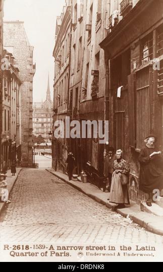 Straße im Quartier Latin, Paris Stockbild