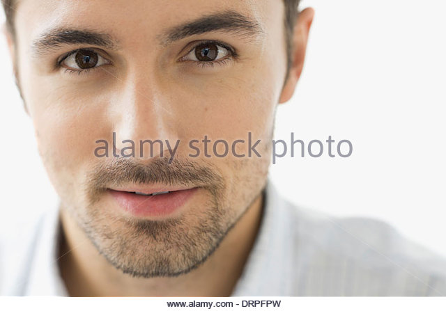 Close-up Portrait von zuversichtlich Mann Stockbild