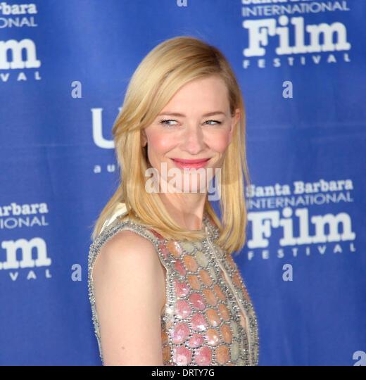 1. Februar 2014 der Santa Barbara International Film Festival präsentiert Schauspielerin Cate Blanchett mit Stockbild