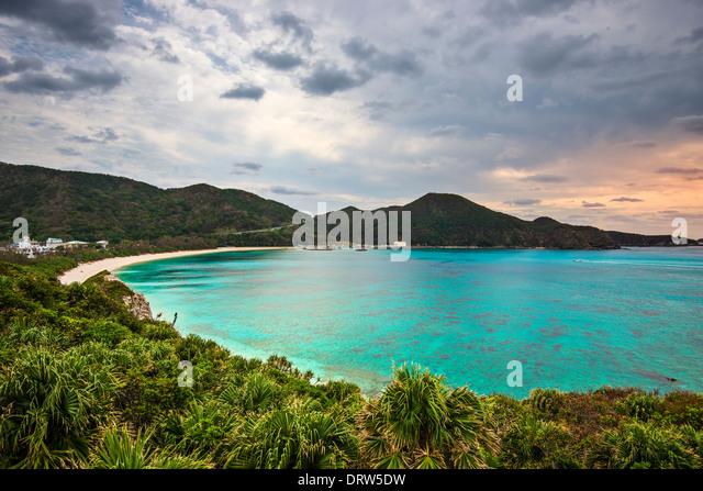 Aharen Strand auf der Insel Tokashiki, Okinawa, Japan. Stockbild