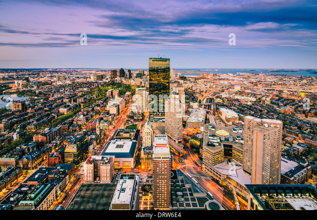 Boston, Massachusetts skyline Stockbild