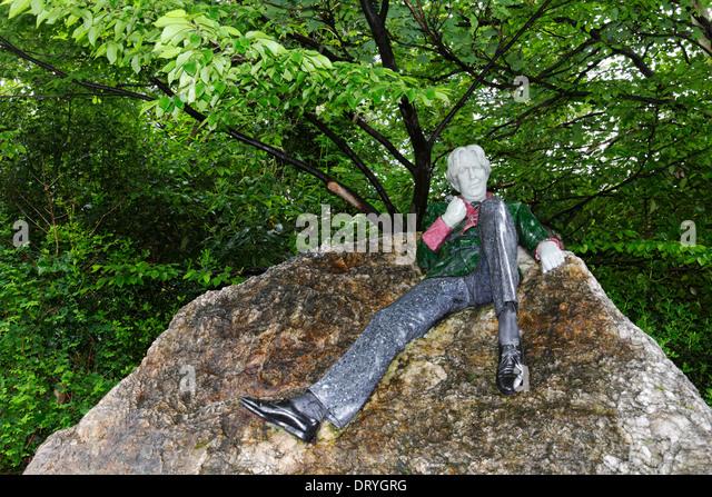 Statue von Oscar Wilde in Merrion Square Park, Dublin, Irland Stockbild