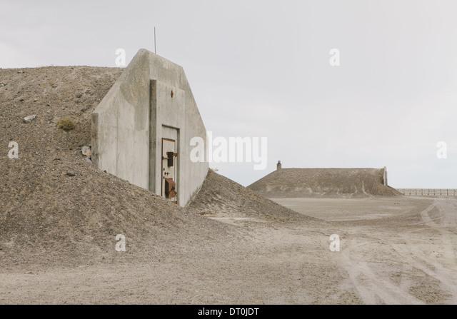 Nevada USA aufgegeben Munition Bunker in der Wüste Stockbild