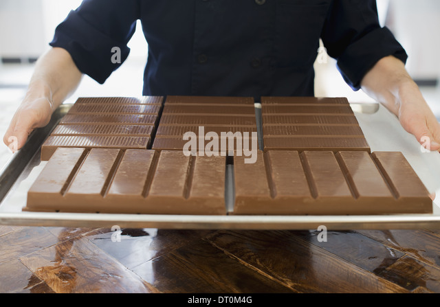 Woodstock New York USA Bio Schokolade fertigen Schokolade verarbeitet Stockbild