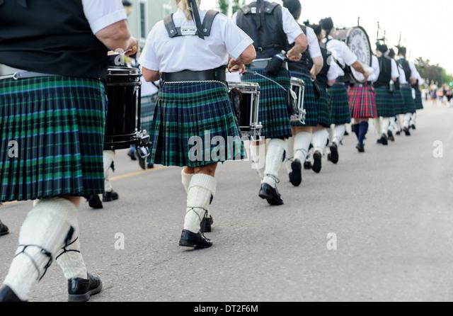 Pfeifer-Parade Stockbild