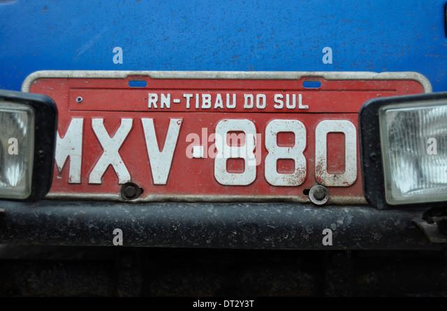 Nummernschild, Rio Grande do Norte, Brasilien. Stockbild