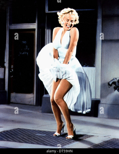 MARILYN MONROE DIE SIEBENJÄHRIGEN ITCH (1955) Stockbild