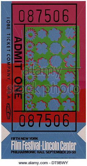 Fünfte New York Filmfestival, 1967. Künstler: Warhol, Andy (1928-1987) Stockbild