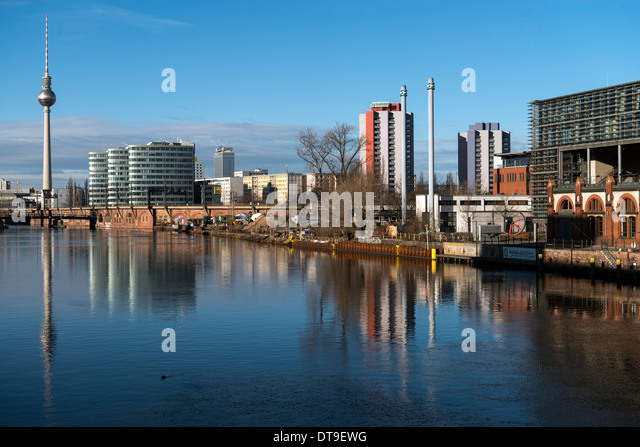 Blick auf Berlin und Fernsehturm TV Turm Deutschland Europa Stockbild
