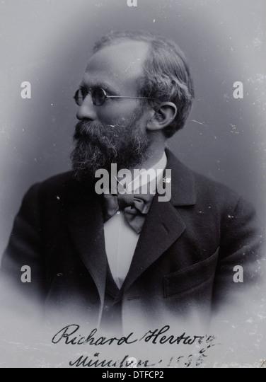 Sir Richard Karl Wilhelm Theodor von Hertwig (1850-1937) - Stock-Bilder