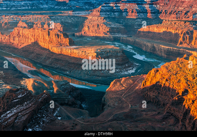 Winter Sunrise Dead Horse Point State Park, Utah - USA Stockbild