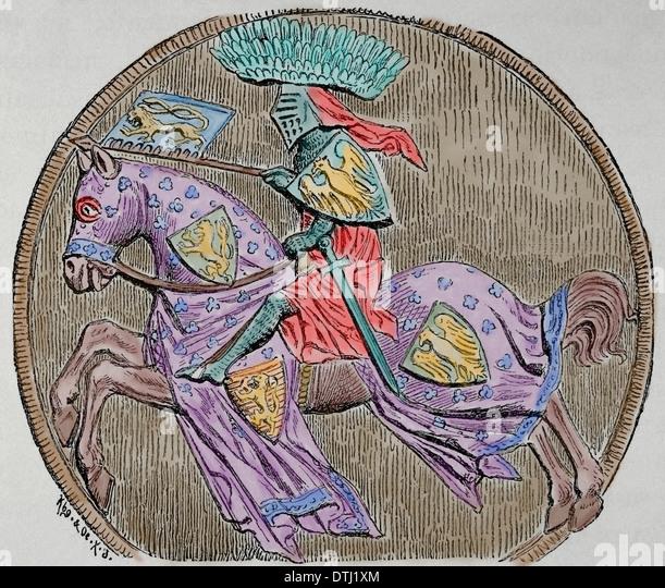 John von Böhmen oder Johannes der Blinde (1296-1346). Graf von Luxemburg, König von Böhmen und König Stockbild